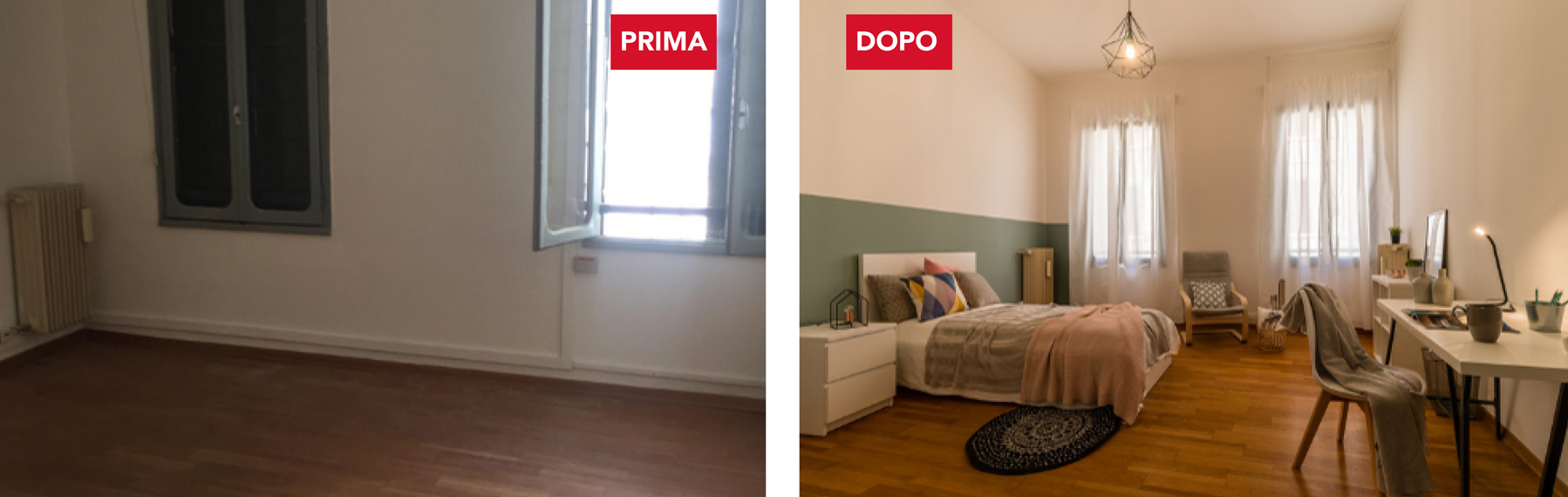 home staging prima e dopo